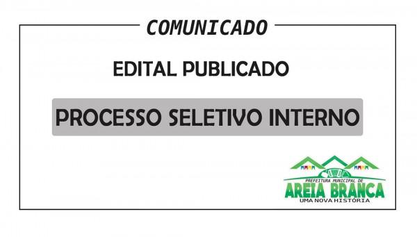 Edital do Processo Seletivo Interno para professor Substituto 01/2019