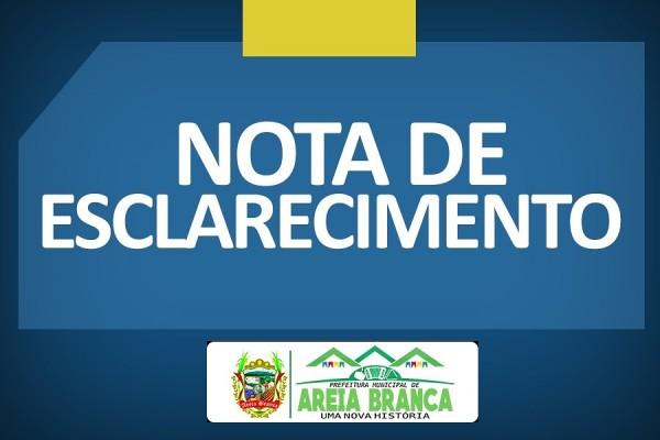 Prefeitura de Areia Branca esclarece sobre atendimento da Clínica Christianno Oliveira de Almeida