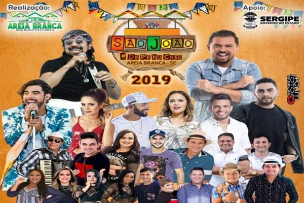Prefeitura de Areia Branca divulga programação oficial do 'São João de Pé no Chão 2019'